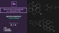 Molecule Diagram , Molecule Diagram ui animation , after effects , after effects tutorials , motion graphics tutorials