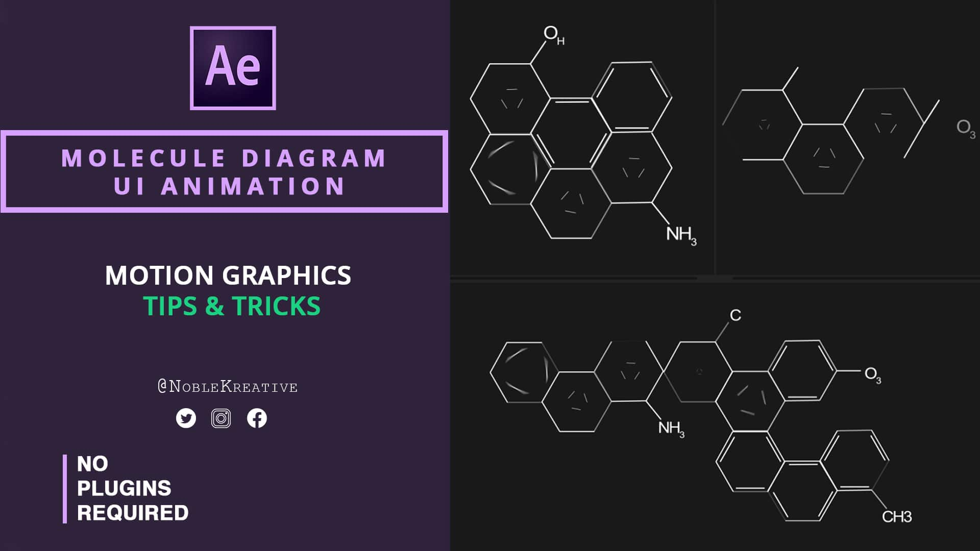 Molecule Diagram , Molecule Diagram ui animation , after effects , after effects tutorials , motion graphics tutorials