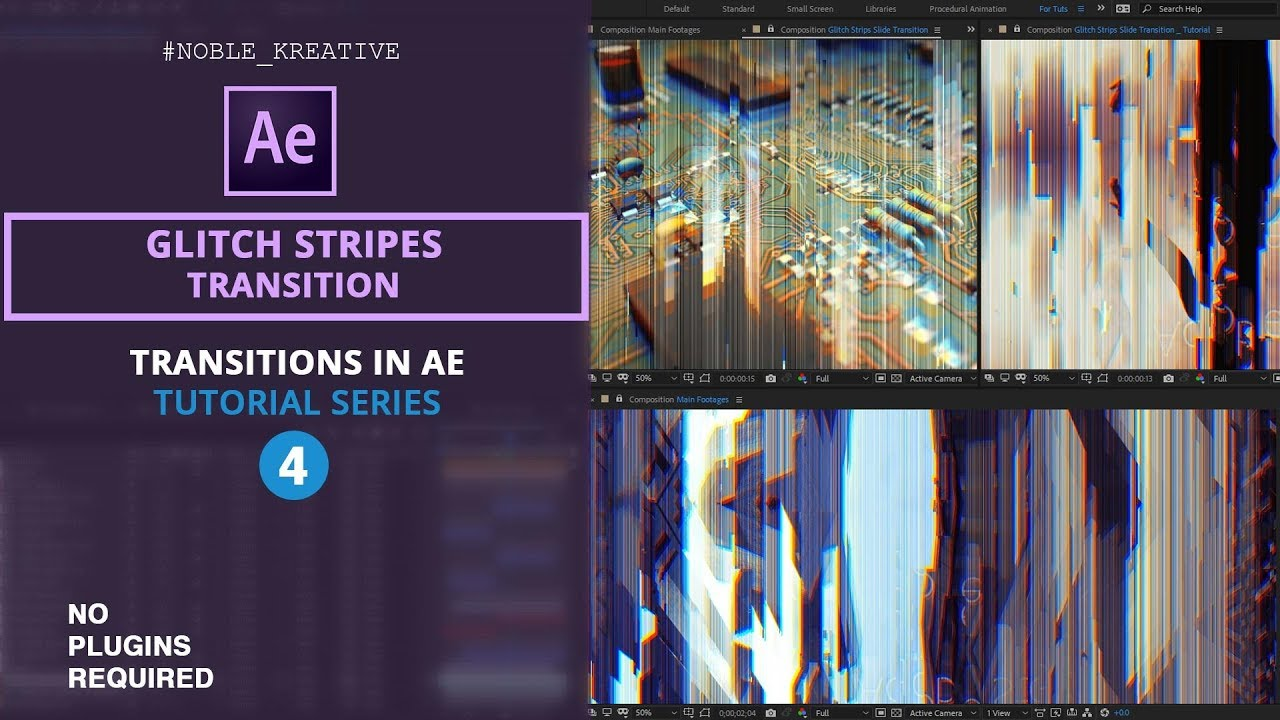 Glitch Stripes Transition , After Effects , Glitch FX