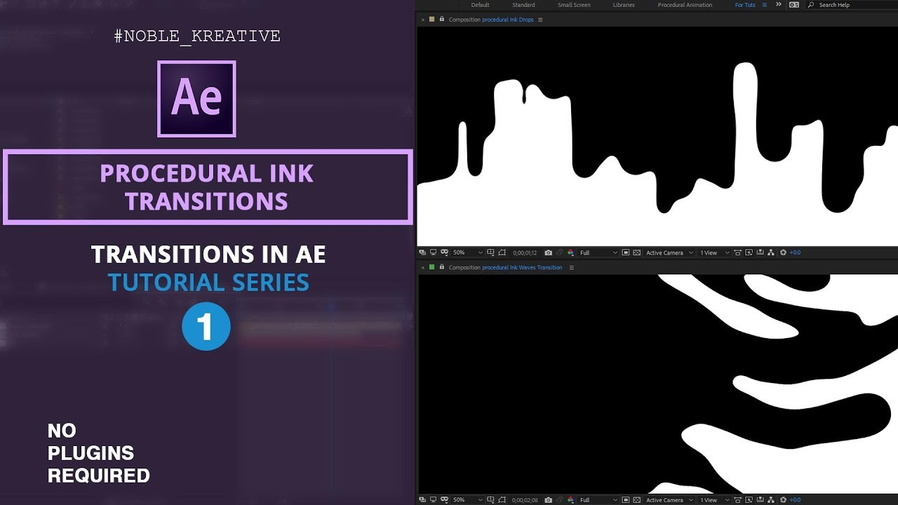 Procedural Ink Transitions , After Effects tutorial