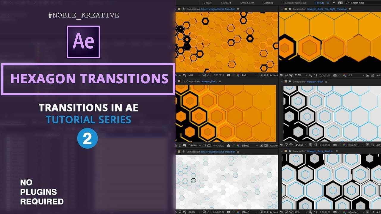 Hexagon Transitions , After Effects tutorials