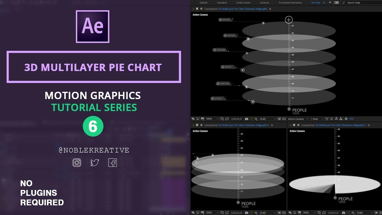 3D MultiLayer Pie Chart , Motion Graphics ,After Effects