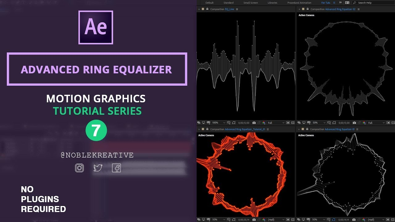 Advanced Ring Equalizer , Motion Graphics , After Effects
