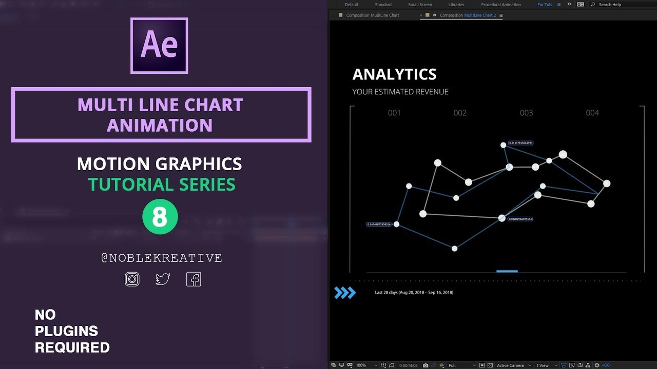 Multi Line Chart , Motion Graphics , After Effects