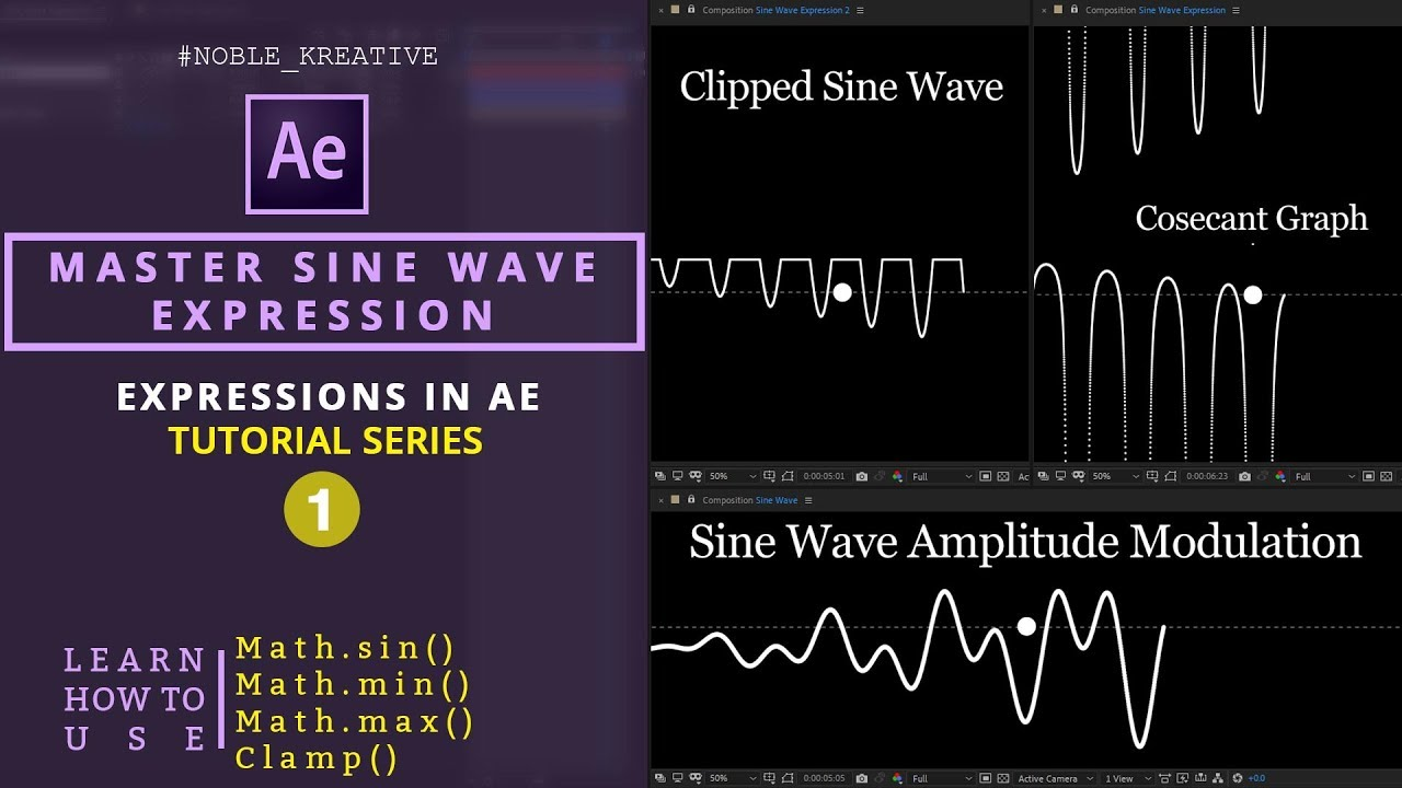 Sine Waves , after effects tutorials , motions graphics , after effect expression
