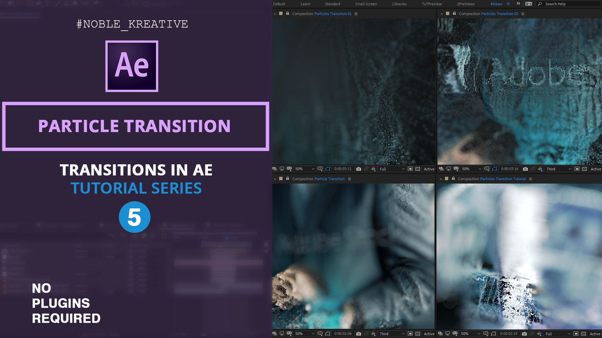 Particle Transition in After Effects