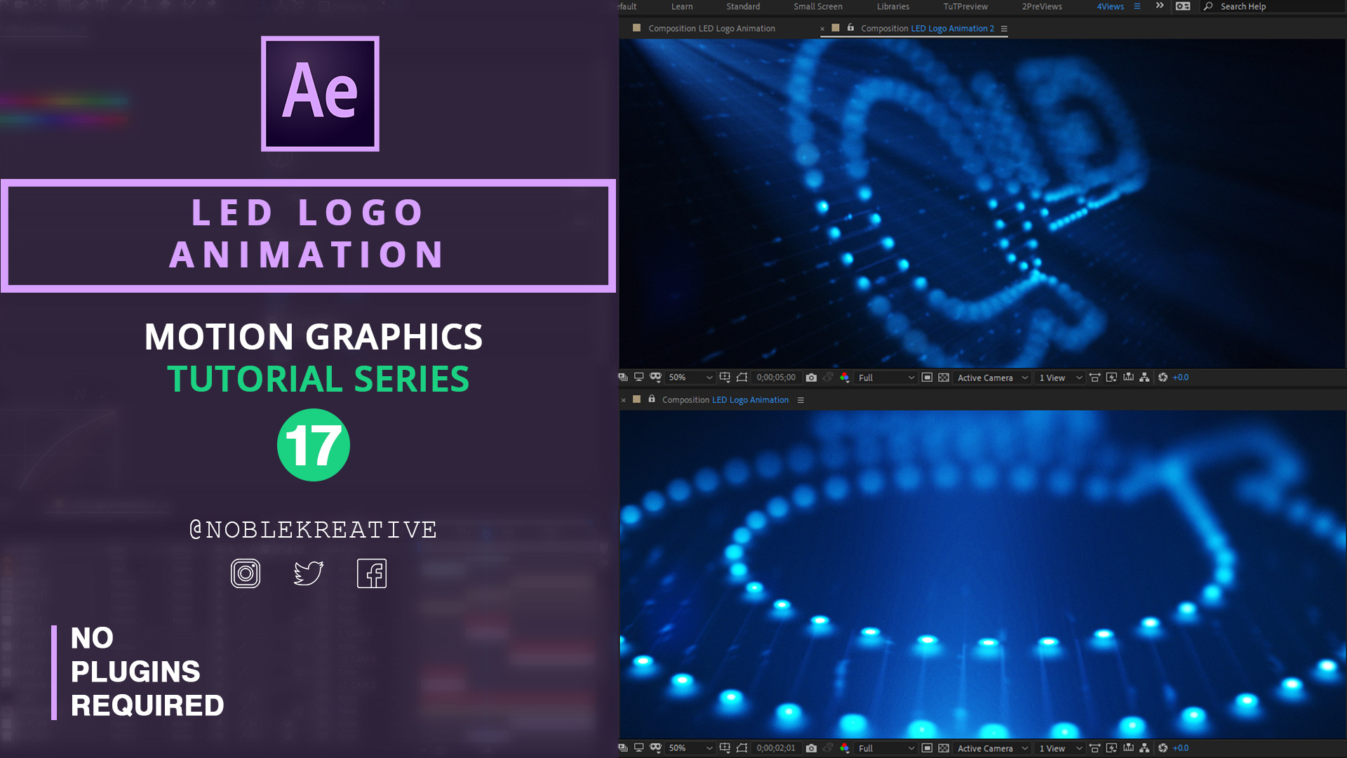 LED Logo Animation , After Effects , motion graphics tutorials , learn AE ,