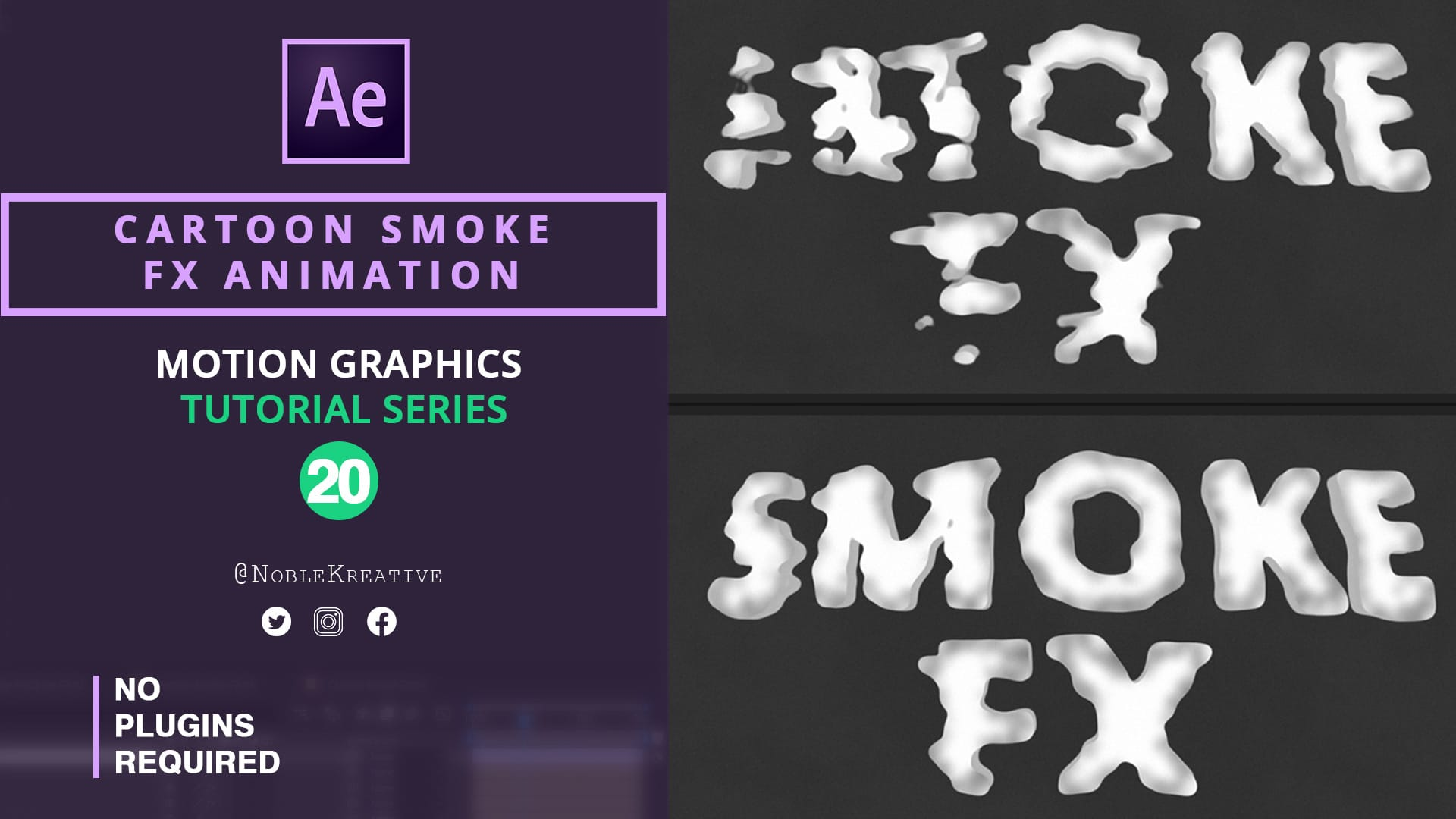 Cartoon Smoke FX , After Effects , After Effects Tutorials , Motion Graphics , Motion Graphics Tutorials