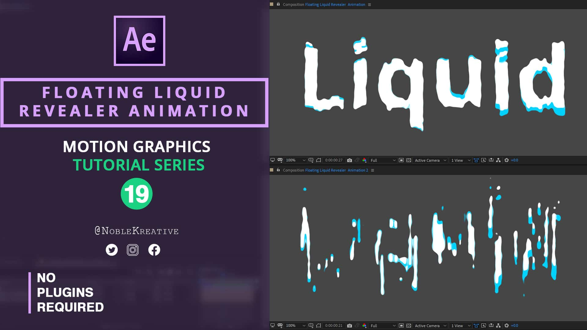 2D & 3D Audio Visualizer in AE | Easy | Noble Kreative