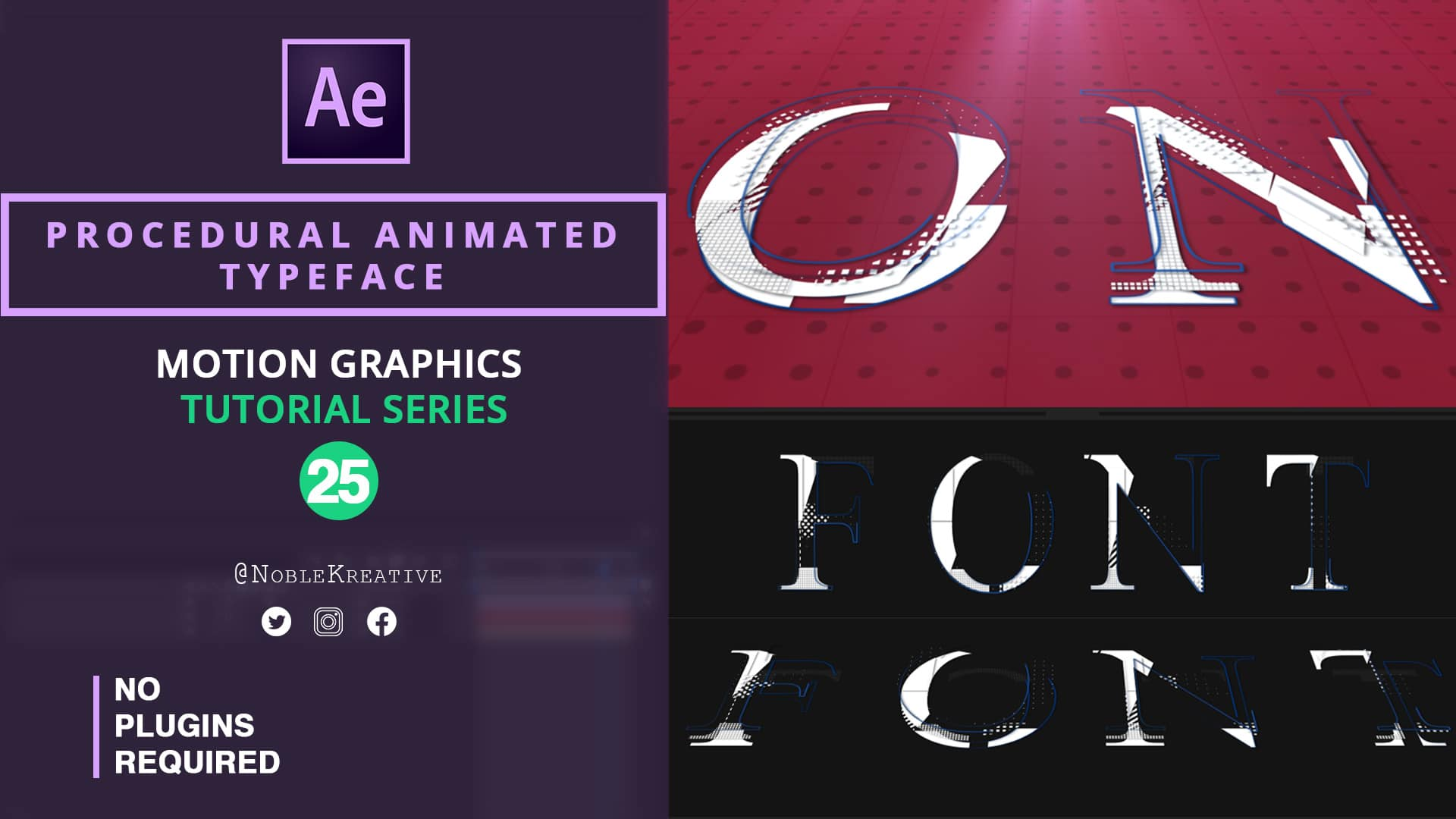 Animated Typeface , after effects , motion graphics , after effects tutorials