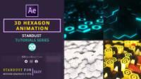 3D Hexagon Animation , 3d hexagon , after effects tutorials , motion graphics , stardust tutorials
