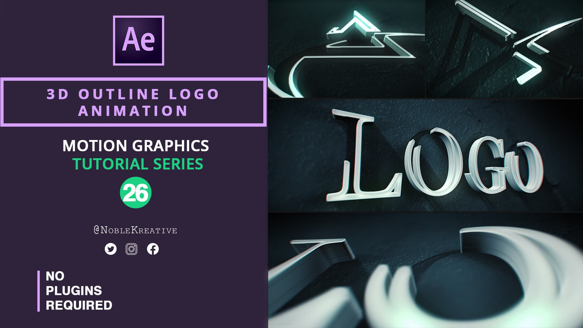 3D Outline Logo Animation , motion graphics , motion graphics tutorials , after effects , after effects tutorials