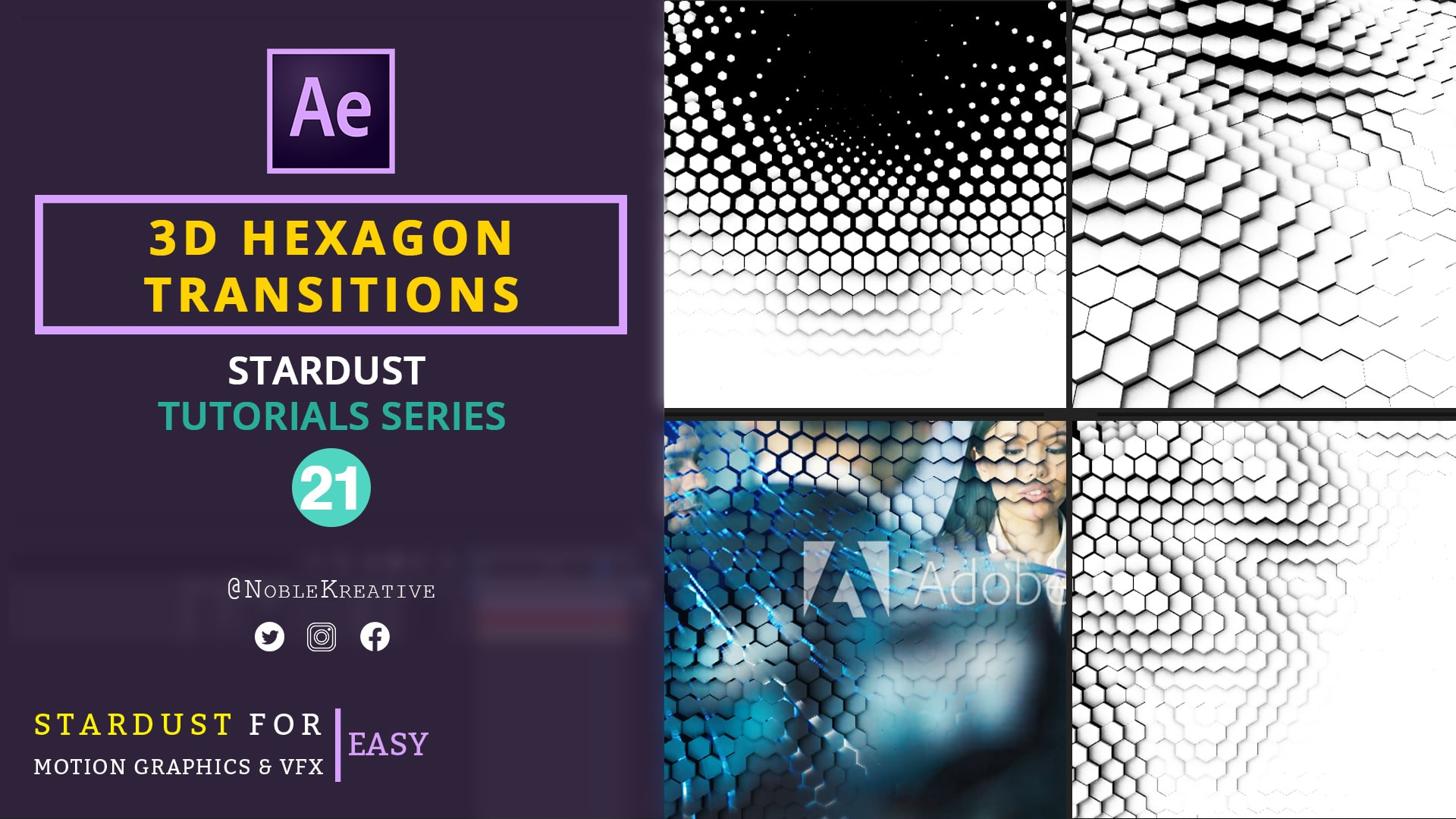3D Hexagon Transitions ,after effects tutorials , after effects transitions , motion graphics tutorials , motion graphics transitions , 3d transition