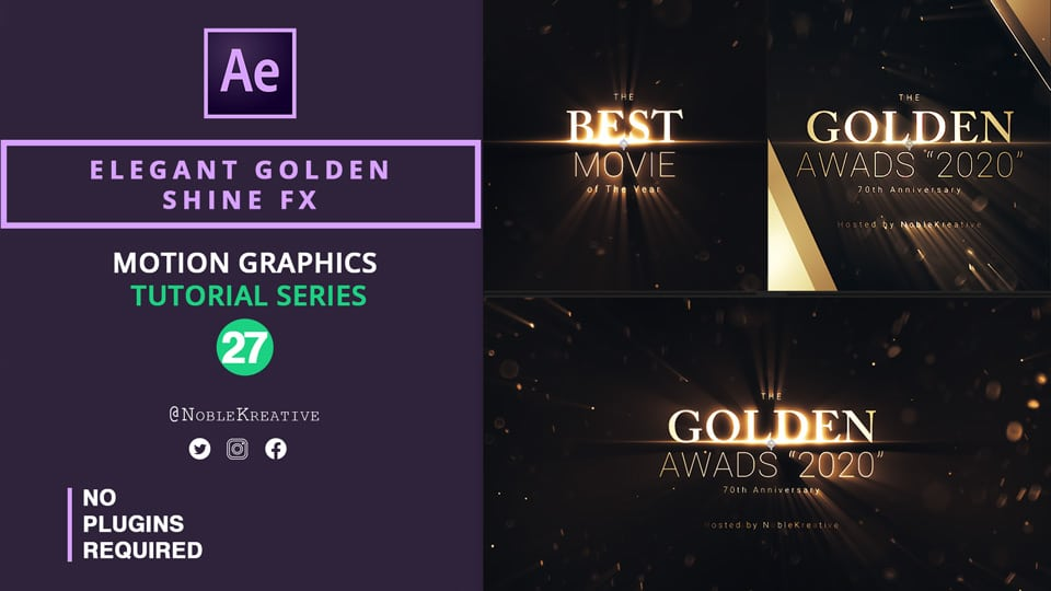 Elegant Golden Shine FX , gold effects , After Effects tutorials , motion graphics tutorials