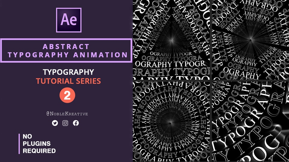 Abstract Typography Animation , after effects , motion graphics , typography tutorials