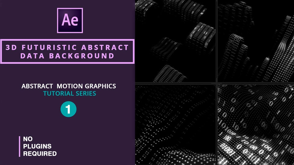 Futuristic Abstract Data Background , 3D Futuristic Abstract Data Background , after effects tutorials , motion graphics tutorials
