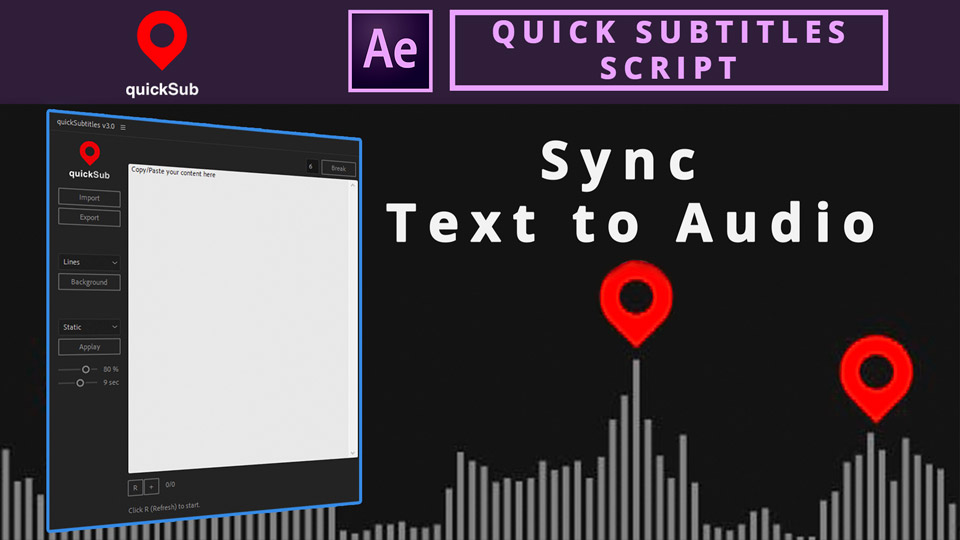 Quick Subtitles Script ,after effects scripts , ae scripts , after effects tools