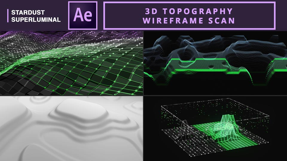 3D Topography Wireframe Scan Animation , 3D topography Scan , 3D Topography Wireframe , 3D Topographic Animation , after effects tutorials , motion graphics tutorials ,stardust tutorials