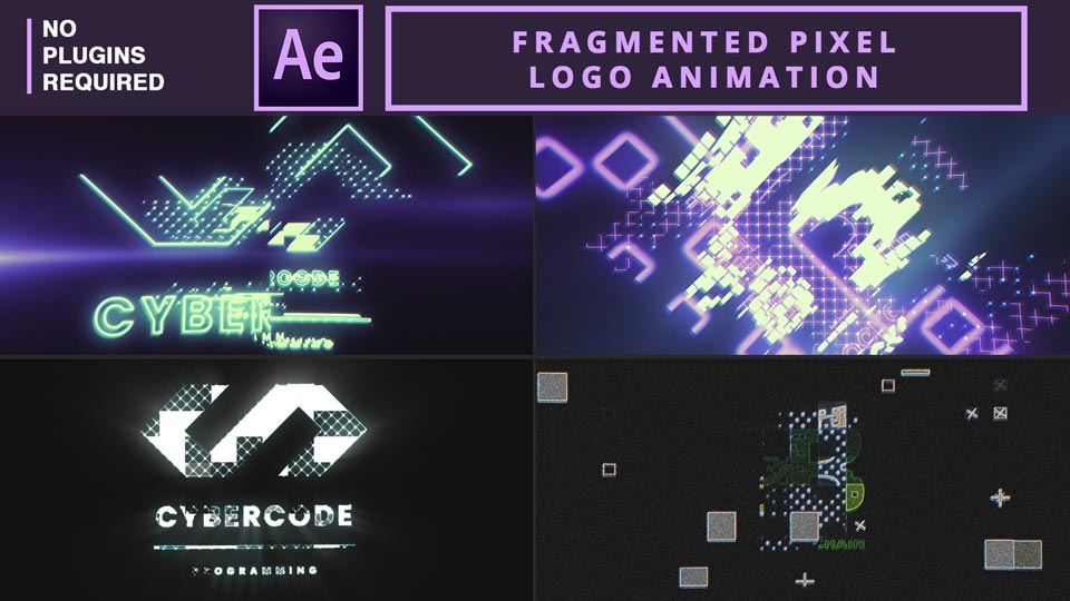 Fragmented Pixel Logo Animation , logo reveal , logo animation , pixel logo animation , Fragmented Logo Animation, after effects , after effects tutorials , motion graphics , motion graphics tutorials