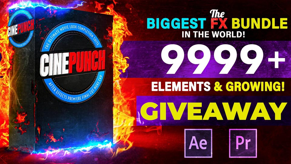 CINEPUNCH,Giveaway ,Massive FX Bundle,After Effect, Premiere