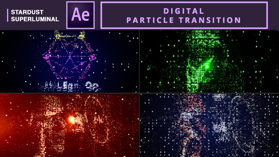 Digital Particle Transition , after effects tutorials , motion graphics tutorials , particle transition , digital transition , particle logo , logo transition , particle logo reveal