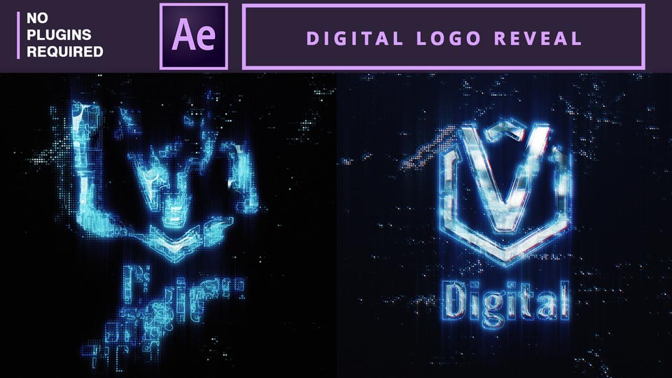Digital Logo Reveal , logo animation , logo reveal, futuristic logo animation , after effects tutorials , motion graphics tutorials