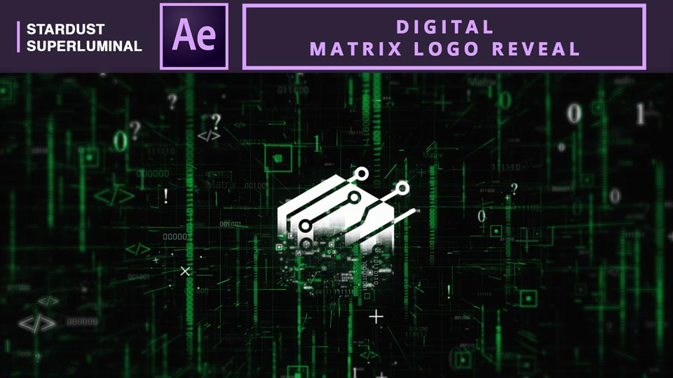 Digital Matrix Logo Reveal, After Effects , After Effects Tutorials , Motion Graphics Tutorials , Stardust Tutorials , Logo animation , Logo Reveal